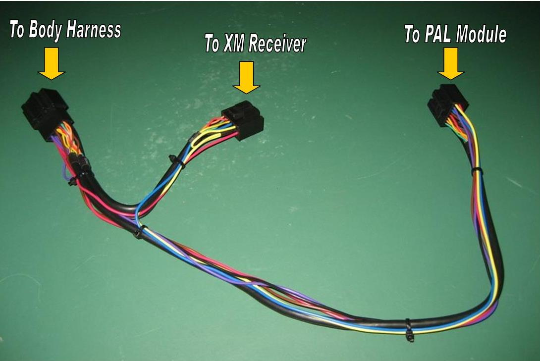 plug in the installation harness