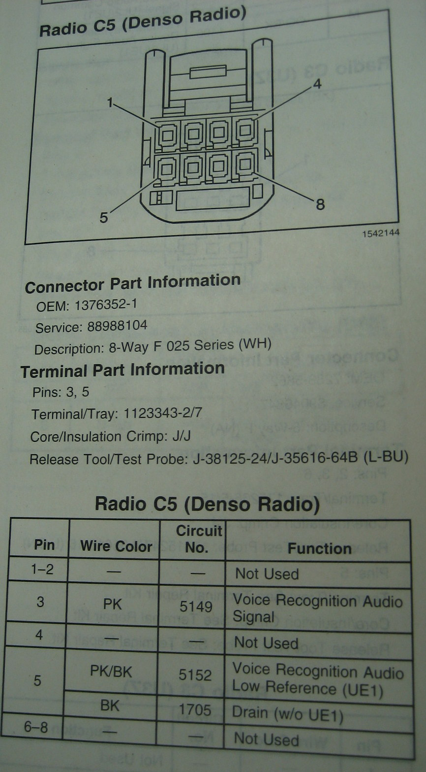 radio noise compensation (bose only)  amplifier wiring