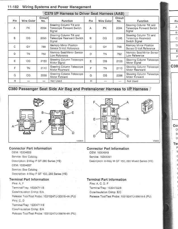 driver memory seat connector pinouts z06 power seats 2004 Corvette Wiring Diagram at gsmx.co
