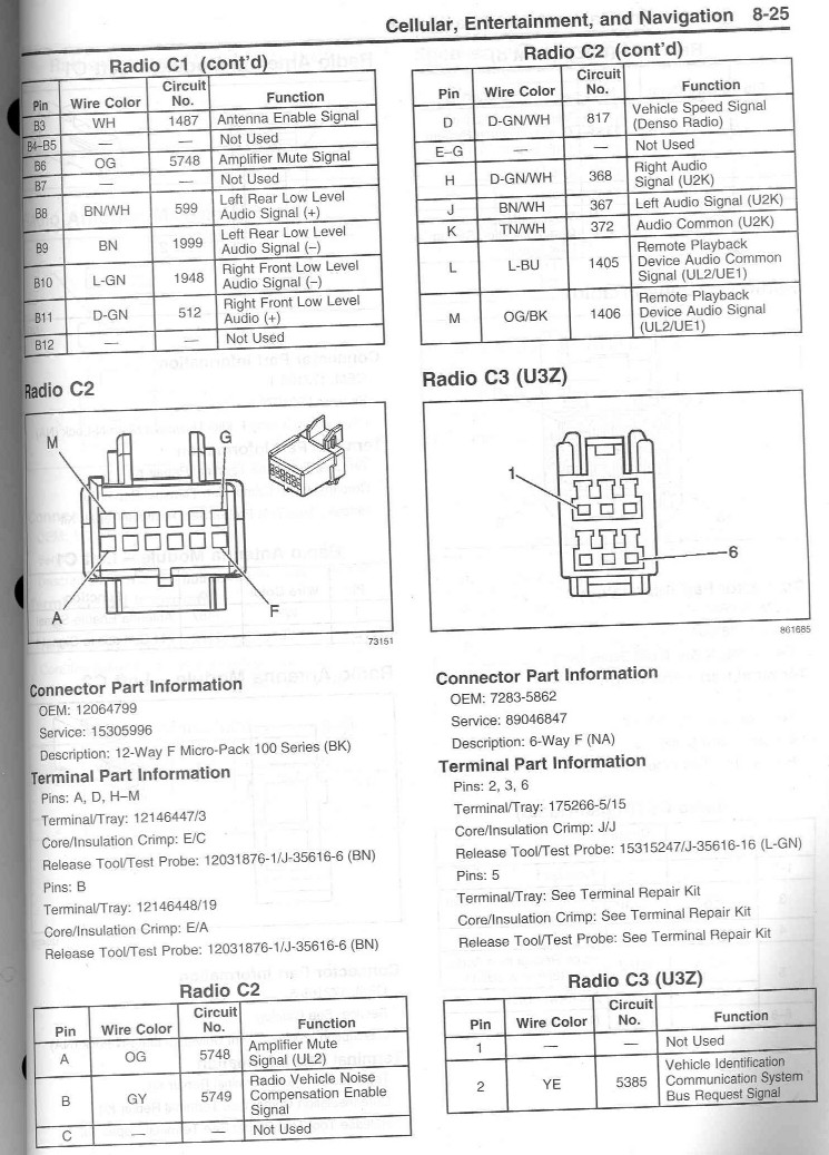 wiring diagram for factory nav radio looking wires